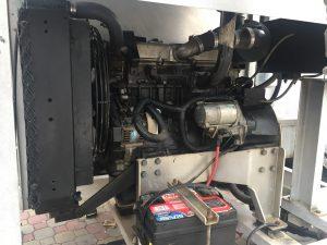 motor ISUZU 4LE1 acoplado la cosechadora de camarón