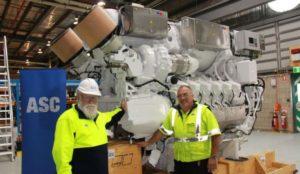 Motores submarinos diesel